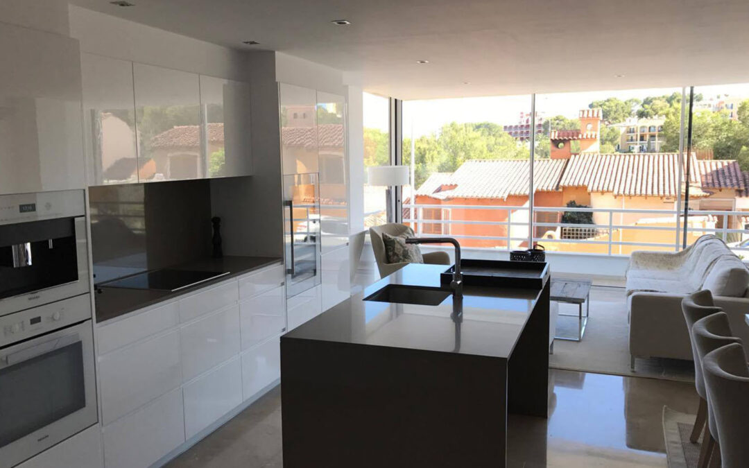 Complete apartment interior and exterior renovation including new terracing and patio