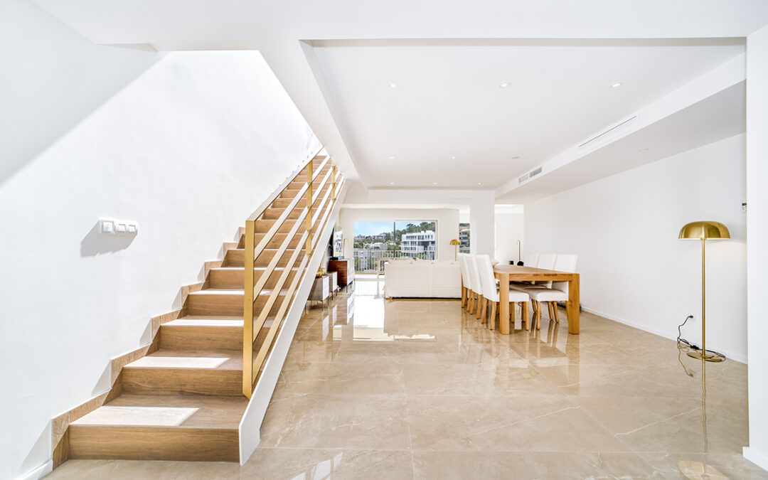 Complete penthouse interior and exterior renovation including new internal staircase